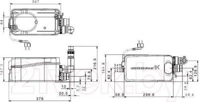 Канализационная установка Grundfos Sololift2 D-2 (97775318) - схема