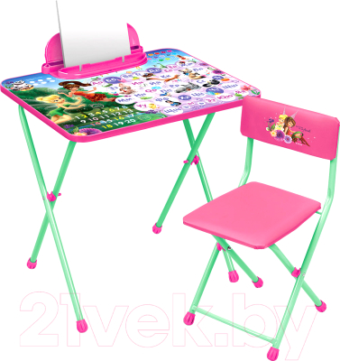 Комплект мебели с детским столом Ника Д2Ф1 Феи. Азбука