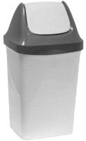 Контейнер для мусора Idea Свинг / М2461 (9л,мраморный) -
