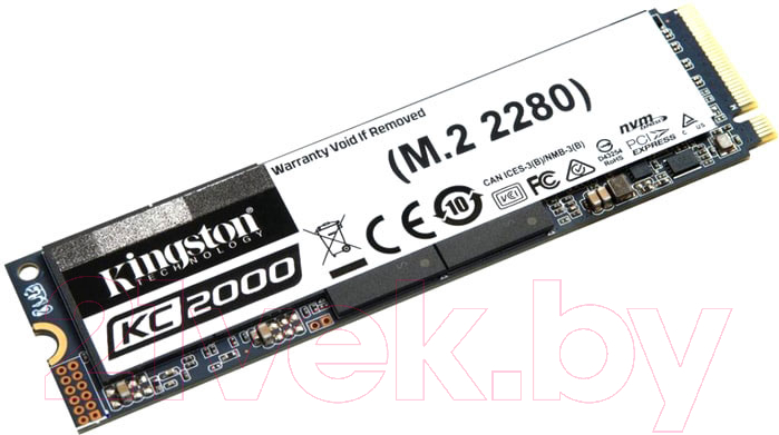 Купить SSD диск Kingston, KC2000 M.2 1000GB (SKC2000M8/1000G), Китай