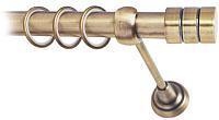 Карниз для штор Lm Decor Цилиндр 088 1р гладкий (антик, 2.4м) -