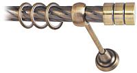Карниз для штор Lm Decor Цилиндр 088 1р витой (антик, 3м) -