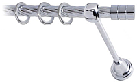 Карниз для штор Lm Decor Цилиндр 088 1р витой (хром, 2м) -