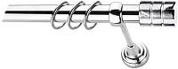 Карниз для штор Lm Decor Цилиндр 088 1р гладкий (хром, 2.4м) -