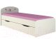 Двухъярусная кровать Мебель-Неман Тедди Розалия КР-3Д (зеленый/кремовый/розовый) -