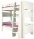 Двухъярусная кровать Мебель-Неман Тедди Розалия КРД180-1Д1 (зеленый/кремовый/розовый) -