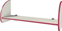 Полка Мебель-Неман Тедди Сакура П-1Д0 (бордовый/кремовый) -