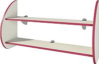 Полка Мебель-Неман Тедди Сакура П-2Д0 (бордовый/кремовый) -