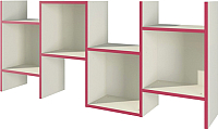Полка Мебель-Неман Тедди Сакура П-3Д0 (бордовый/кремовый) -