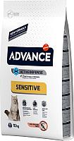 Корм для кошек Advance Sensitive с лососем (10кг) -