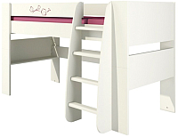 Кровать-чердак Мебель-Неман Тедди Сакура КРД120-1Д0 (бордовый/кремовый) -