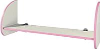 Полка Мебель-Неман Тедди Розалия П-1Д1 (кремовый/розовый) -