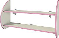 Полка Мебель-Неман Тедди Розалия П-2Д1 (кремовый/розовый) -