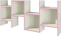 Полка Мебель-Неман Тедди Розалия П-3Д1 (кремовый/розовый) -