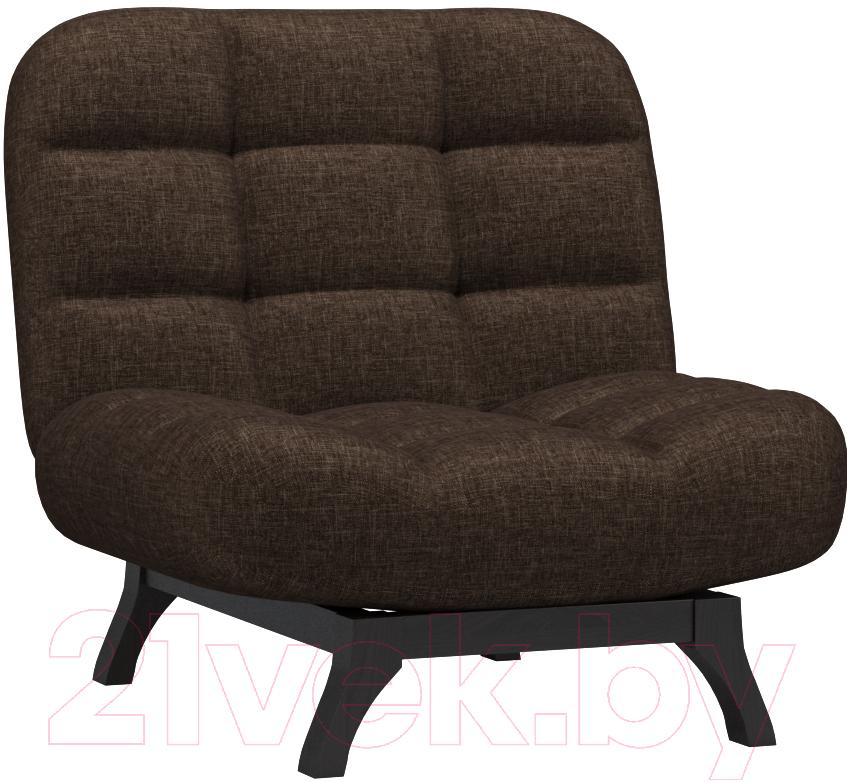 Купить Кресло мягкое Woodcraft, Бертон (коричневая рогожка), Россия