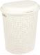 Корзина для белья Idea Ротанг / М2601 (50л,белый) -