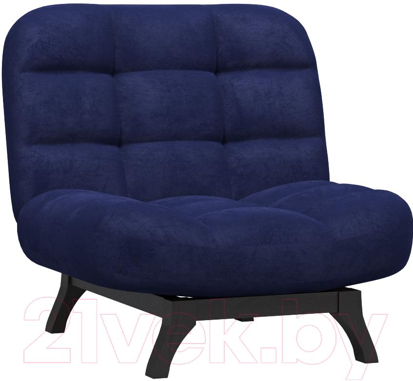 Купить Кресло мягкое Woodcraft, Бертон (темно-синий вельвет), Россия