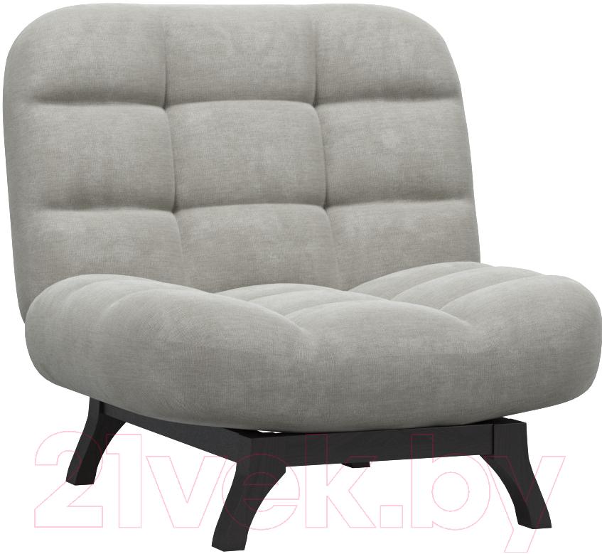 Купить Кресло мягкое Woodcraft, Бертон (серый вельвет), Россия
