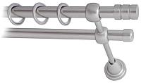 Карниз для штор Lm Decor Цилиндр 088 2р гладкий (сатин, 1.6м) -