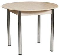 Обеденный стол FORT Круглый 80x80x75 (шимо светлый/хром) -