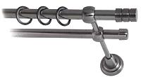 Карниз для штор Lm Decor Цилиндр 088 2р гладкий (антрацит, 3м) -