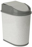 Контейнер для мусора Idea М2481 (8л,мраморный) -