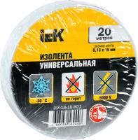 Изолента IEK UIZ-13-10-K01 (белый) -