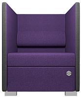 Кресло мягкое Kulik System Conference 1 азур (фиолетовый) -