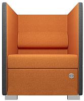 Кресло мягкое Kulik System Conference 1 азур (оранжевый) -