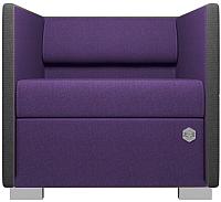 Диван Kulik System Lounge 1 азур (фиолетовый) -