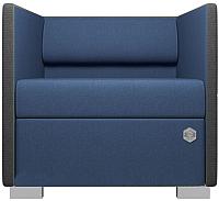 Кресло мягкое Kulik System Lounge 1 азур (джинс) -