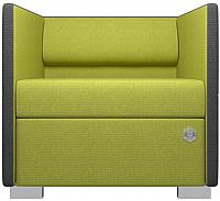 Кресло мягкое Kulik System Lounge 1 азур (оливковый) -
