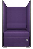 Кресло мягкое Kulik System Private 1 азур (фиолетовый) -