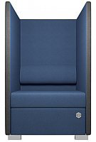 Кресло мягкое Kulik System Private 1 азур (джинс) -