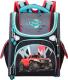 Школьный рюкзак Across ACR19-195-02 (черный/бирюзовый/красный) -