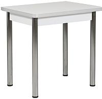 Обеденный стол FORT Ломберный 600 60-120x60x75 (белый/хром) -