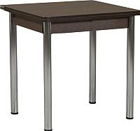 Обеденный стол FORT Ломберный 600 60-120x60x75 (венге/хром) -