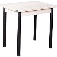 Обеденный стол FORT Ломберный 60-120x80x75 (шимо светлый/черный) -