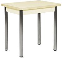 Обеденный стол FORT Прямоугольный 100x60x75 (ванильная лоза/хром) -