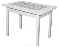 Обеденный стол FORT Ажурный Р-26 110x70x75 (белый) -