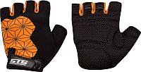 Перчатки велосипедные STG Replay / X95305-M (черный/оранжевый) -