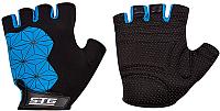 Перчатки велосипедные STG Replay / X95306-M (черный/синий) -