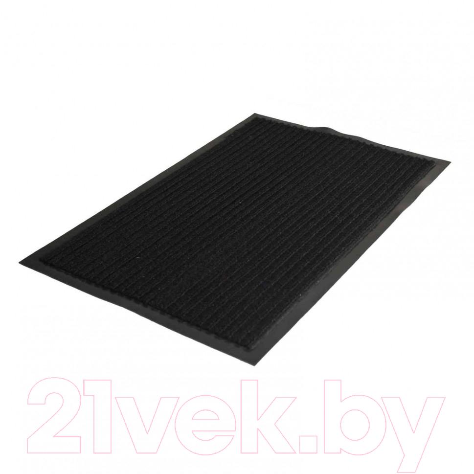 Купить Коврик грязезащитный Kovroff, Стандарт ребристый 50x80 / 20201 (черный), Россия