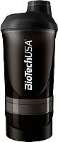 Шейкер спортивный BioTechUSA Wave I00002649 (черный) -