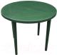 Стол пластиковый Стандарт Пластик Групп Круглый 90 (темно-зеленый) -