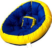 Бескаркасное кресло-трансформер Angellini 9с0013тр (L, синий/желтый) -