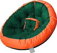 Бескаркасное кресло-трансформер Angellini 9с0013тр (L, зеленый/оранжевый) -