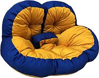 Бескаркасное кресло Angellini 9с0040тр (желтый/синий) -