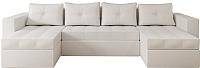 Диван П-образный Настоящая мебель Константин экокожа (белый) -