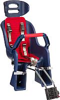 Детское велокресло SunnyWheel SW-BC-137 / X69807 (синий/красный) -